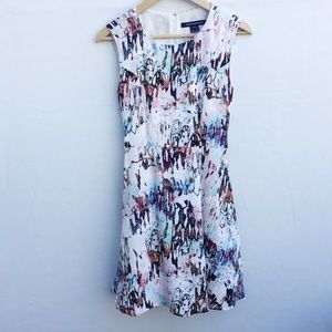 French Connection Isla water color print dress.